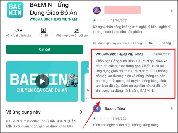 Chuyện như đùa: BAEMIN vừa nói Trấn Thành hết HĐ quảng cáo, netizen quay xe xin lỗi được chưa và đi rate lại 5 sao? - Ảnh 2.
