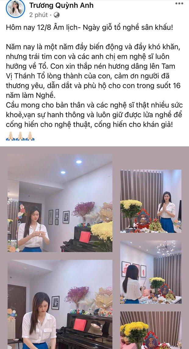 Showbiz Việt ngày Giỗ tổ sân khấu: Lý Hải - Khánh Vân và dàn sao Việt dâng lễ tại gia, Nam Thư muốn khóc vì tủi thân - Ảnh 31.