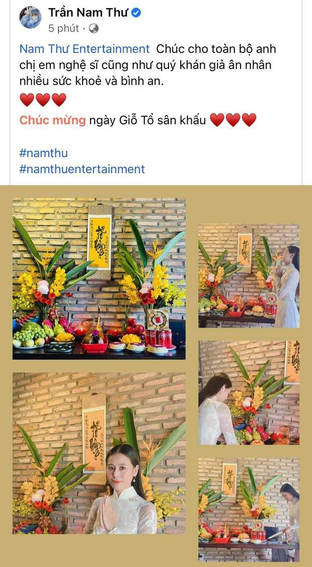Showbiz Việt ngày Giỗ tổ sân khấu: Lý Hải - Khánh Vân và dàn sao Việt dâng lễ tại gia, Nam Thư muốn khóc vì tủi thân - Ảnh 18.