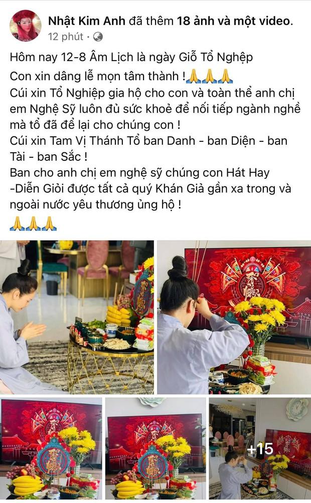 Showbiz Việt ngày Giỗ tổ sân khấu: Lý Hải - Khánh Vân và dàn sao khủng dâng lễ online tại gia, chẳng tụ họp mà cực ấm cúng!  - Ảnh 5.