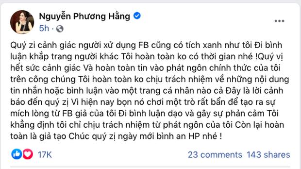Bà Phương Hằng quay xe tuyên bố livestream trở lại, cảnh báo các tài khoản giả mạo đi bình luận dạo: Tôi không có thời gian đi bình luận khắp trang của người khác - Ảnh 3.