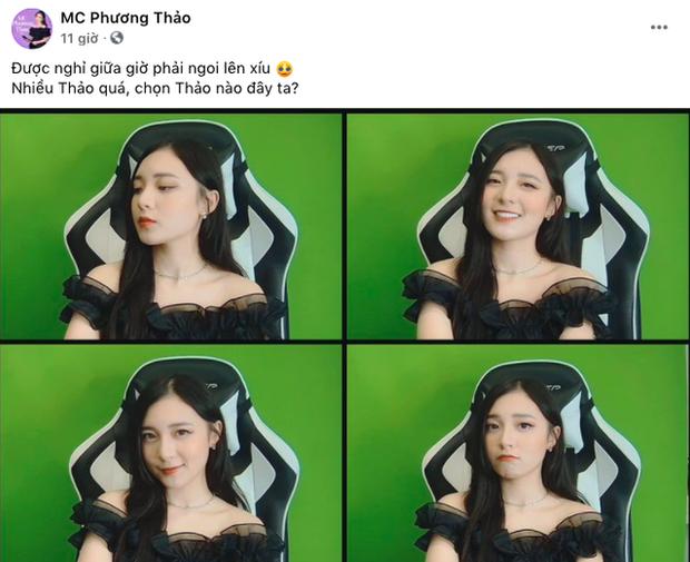Tranh thủ giữa buổi dẫn ĐTDV để đăng hình thả thính, MC Phương Thảo bị fan troll tới bến - Ảnh 1.