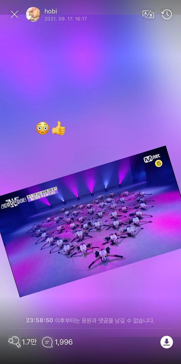 j-hope (BTS) công khai ủng hộ nhóm nhảy nữ, có 1 chi tiết cực tinh tế khiến Knet phải trầm trồ - Ảnh 2.