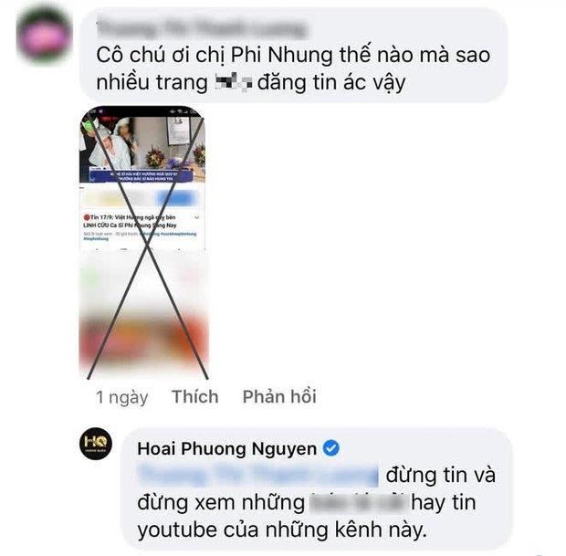 Phẫn nộ tin giả Việt Hương ngã quỵ bên linh cữu Phi Nhung tràn lan trên MXH, ông xã Hoài Phương lên tiếng - Ảnh 2.
