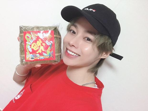 Fandom Việt Nam chất lượng cao của Hanbin: Tặng quà từ bánh chưng, bánh trung thu thập cẩm 2 trứng đến dép tổ ong xanh lè - Ảnh 3.