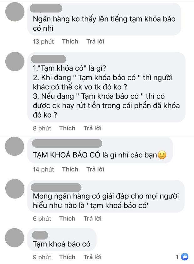 """Netizen lại kéo vào page Vietcombank vì """"tạm khoá báo có"""": Hết đòi giải thích thuật ngữ lại lập mưu giấu vợ tạo quỹ đen - Ảnh 2."""