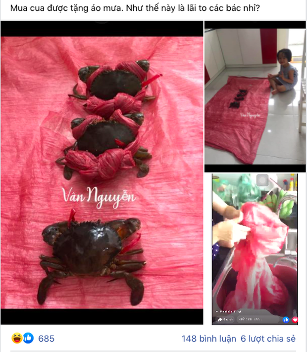 Cô gái mua cua được người bán khuyến mãi một thứ nhìn vào mà phát hãi, đúng là mặt hàng lừa tình nhất Việt Nam - Ảnh 1.