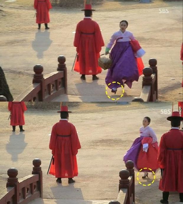 Loạt sạn phục trang trời ơi đất hỡi ở phim Hàn: Cổ trang mà đi giày cao gót hiện đại là toang rồi! - Ảnh 1.