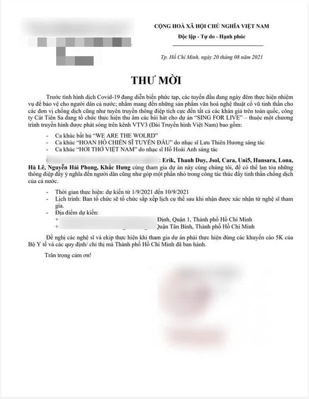Erik chính thức lên tiếng thừa nhận việc đi thu âm trong thời gian giãn cách, bác bỏ thông tin sai lệch trên MXH - Ảnh 4.