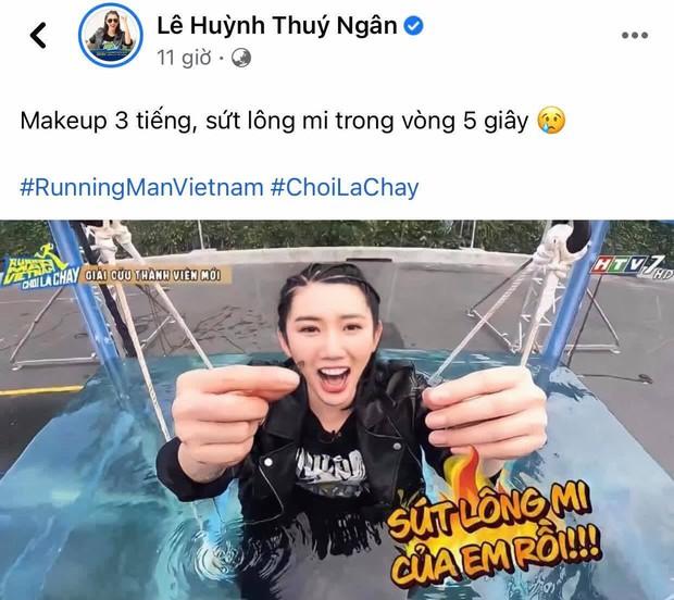 Thúy Ngân vừa ra mắt ở Running Man Việt, Nhã Phương đã nhờ ông xã hỏi thăm 1 câu hết hồn! - Ảnh 1.