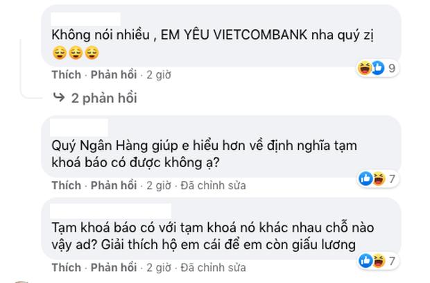 """Màn """"quay xe"""" cực gắt của netizen đối với Vietcombank, hàng trăm lượt tương tác thả tim đầy tích cực - Ảnh 6."""