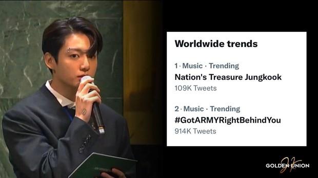 Jungkook (BTS) bùng nổ visual, từ khóa Bảo vật quốc gia leo top 1 trending toàn cầu sau màn xuất hiện quá bảnh tại Liên Hợp Quốc - Ảnh 13.