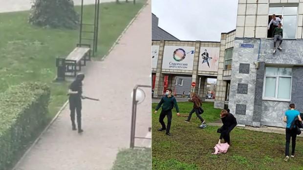 Nóng: Xả súng đẫm máu tại đại học Nga khiến 8 người chết, sinh viên hoảng loạn nhảy lầu bỏ chạy - Ảnh 1.