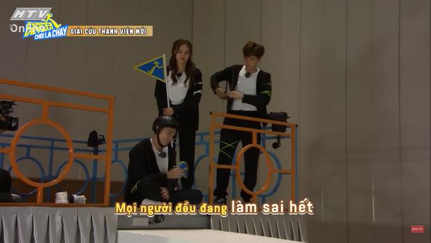 Jun Phạm tấu hài tại Running Man Việt tập 1: Chê Ngô Kiến Huy đã miệng rồi tự đi vào vết xe đổ - Ảnh 5.