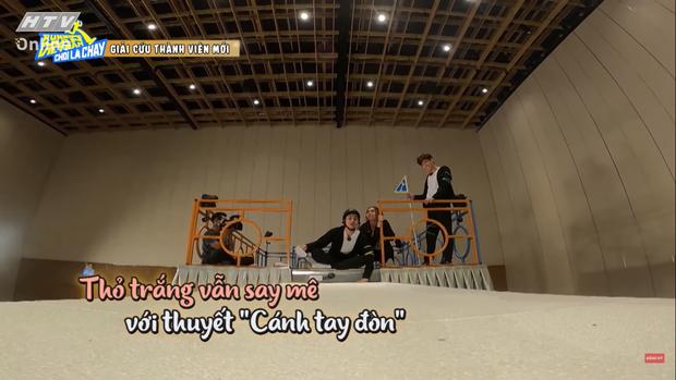 Jun Phạm tấu hài tại Running Man Việt tập 1: Chê Ngô Kiến Huy đã miệng rồi tự đi vào vết xe đổ - Ảnh 7.