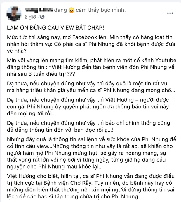 Rộ tin Việt Hương đến tận bệnh viện đón Phi Nhung sau 3 tuần trị Covid-19, sự thật được hé lộ! - Ảnh 2.