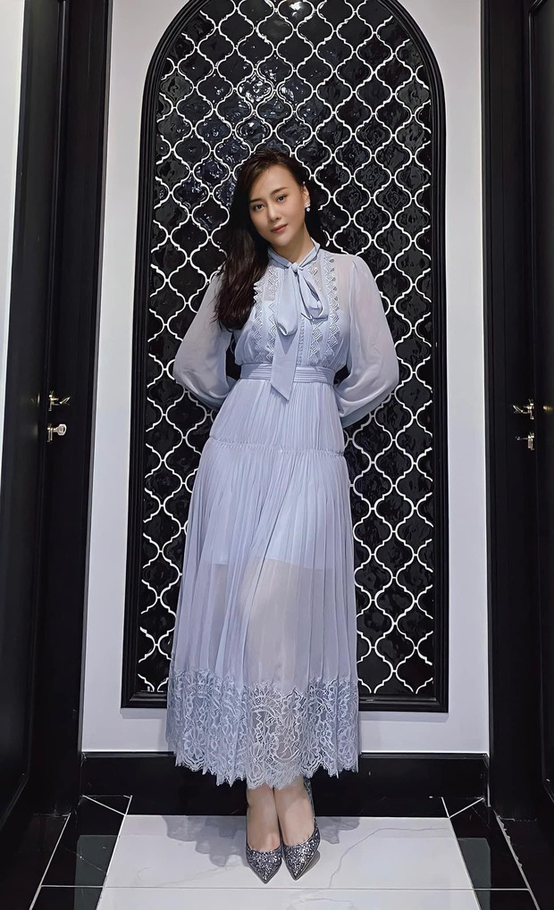 Phương Oanh khoe váy mới để gỡ gạc hình ảnh của Nam, netizen liên tưởng ngay đến Công nương Kate - Ảnh 1.