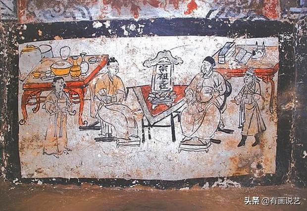 Soi tranh vẽ cảnh sinh hoạt đời xưa trong mộ cổ, dân mạng kịch liệt chỉ trích: Nhìn kỹ mới thấy 1 chi tiết quá mức rùng mình - Ảnh 3.