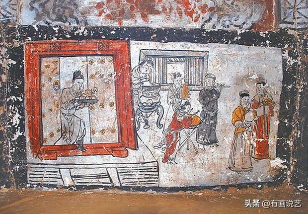 Soi tranh vẽ cảnh sinh hoạt đời xưa trong mộ cổ, dân mạng kịch liệt chỉ trích: Nhìn kỹ mới thấy 1 chi tiết quá mức rùng mình - Ảnh 2.