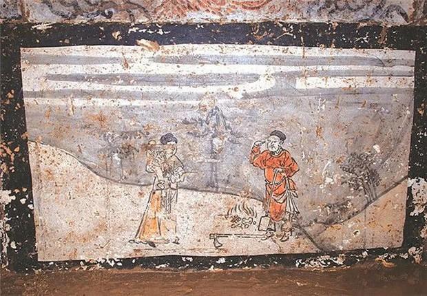 Soi tranh vẽ cảnh sinh hoạt đời xưa trong mộ cổ, dân mạng kịch liệt chỉ trích: Nhìn kỹ mới thấy 1 chi tiết quá mức rùng mình - Ảnh 4.