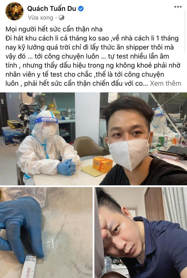 Ca sĩ Quách Tuấn Du nhiễm Covid-19 - Ảnh 2.