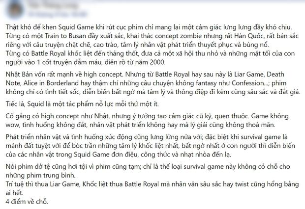 Netizen chiến nhau tanh bành vì Squid Game: Người khen hay nức nở, kẻ chê bai thảm họa - Ảnh 8.