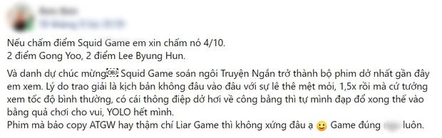 Netizen chiến nhau tanh bành vì Squid Game: Người khen hay nức nở, kẻ chê bai thảm họa - Ảnh 10.