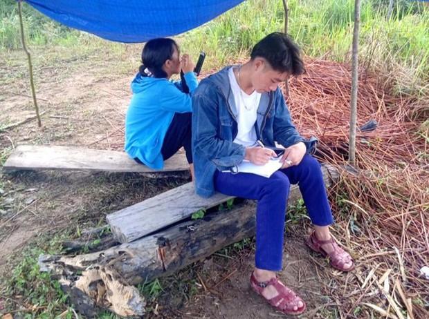 Những góc học online đặc biệt giữa núi rừng của học sinh vùng cao xứ Nghệ - Ảnh 2.