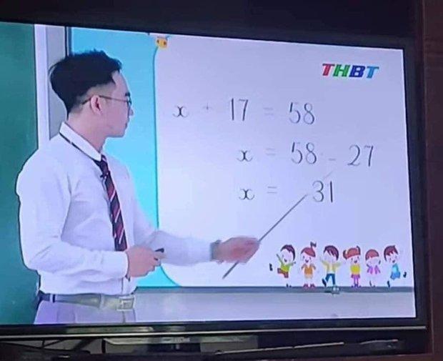 Thầy giáo giảng bài Toán lớp 3 trên truyền hình, cho ví dụ tìm X đơn giản nhưng lại ra đáp án sai vì lý do không tưởng - Ảnh 2.