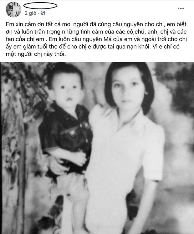 Em ruột Phi Nhung: Wendy trông chị mỗi ngày, con em còn chưa gặp mặt cô hai, mau mau tỉnh dậy đi chị - Ảnh 3.
