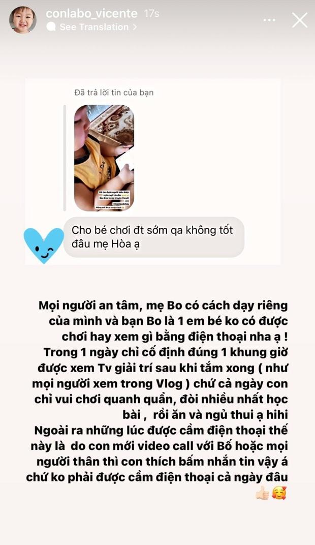 Bị nhắc nhở 1 thói quen không tốt cho quý tử mới 1 tuổi, mẹ bỉm Hoà Minzy giải thích thế nào? - Ảnh 3.