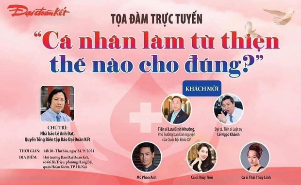 Thuỷ Tiên đối thoại cùng MC Phan Anh chủ đề Cá nhân làm từ thiện thế nào cho đúng? - Ảnh 2.
