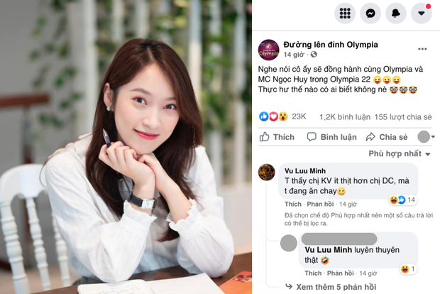 Xuất hiện comment của phó phòng tại VTV trên fanpage Đường Lên Đỉnh Olympia, nói gì mà bị netizen bảo luyên thuyên? - Ảnh 1.