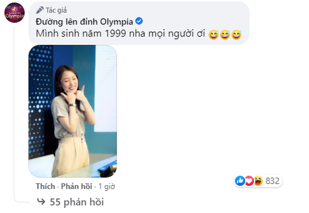 Câu hỏi HOT nhất lúc này: Khánh Vy - MC mới của Đường Lên Đỉnh Olympia sinh năm 1998 hay 1999? - Ảnh 3.
