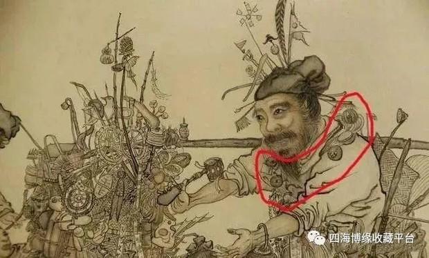Phóng to bức tranh khó hiểu trong Bảo tàng Cố Cung, hậu thế rùng mình: Người đàn ông này có 27 con mắt! - Ảnh 2.