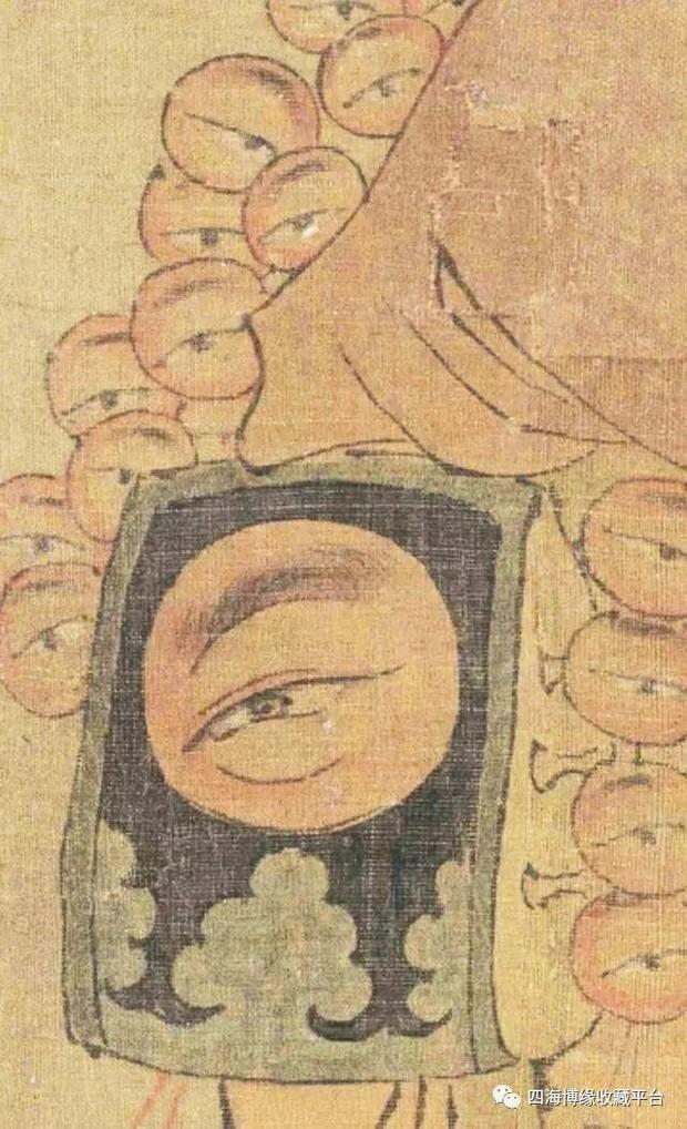 Phóng to bức tranh khó hiểu trong Bảo tàng Cố Cung, hậu thế rùng mình: Người đàn ông này có 27 con mắt! - Ảnh 3.