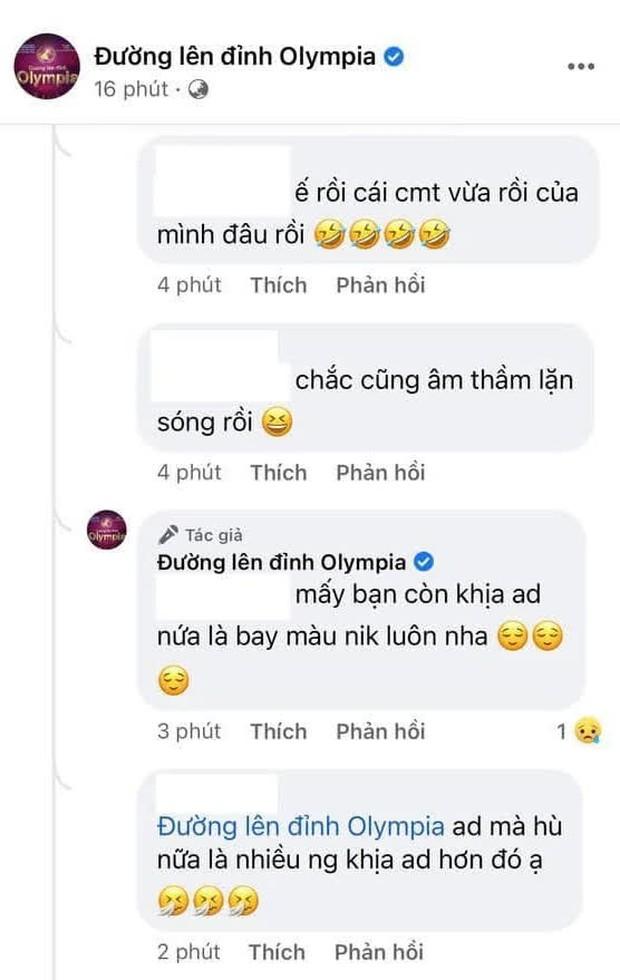 """Fanpage Đường Lên Đỉnh Olympia doạ cho netizen """"bay màu"""" nếu nhắc điều này dưới bài đăng về vụ thay MC - Ảnh 4."""