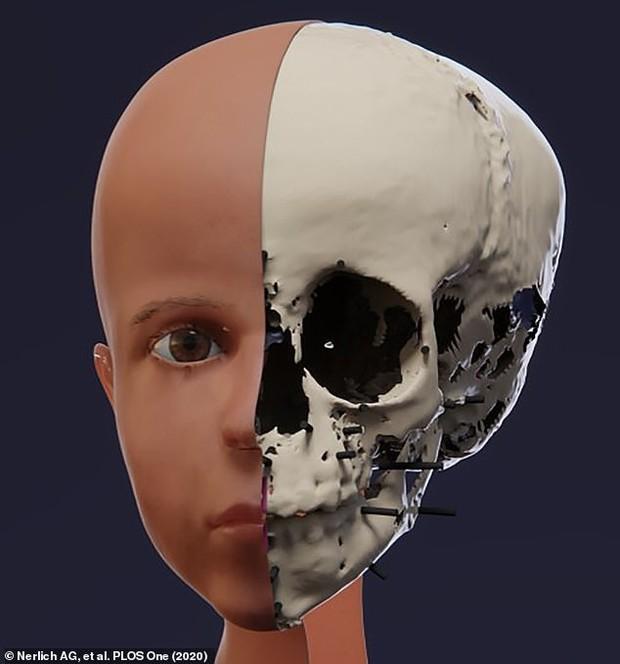Phục dựng dung mạo em bé Ai Cập chết nghìn năm trước, kết quả giống chân dung gắn trên xác ướp đến kinh ngạc ngoại trừ 1 điểm - Ảnh 3.