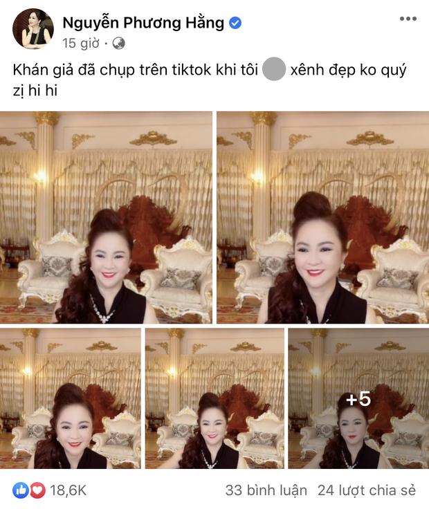Phát hiện mới: Cứ được khen đẹp chấn động là bà Phương Hằng mới rep comment, lại còn đúng chính tả - Ảnh 1.