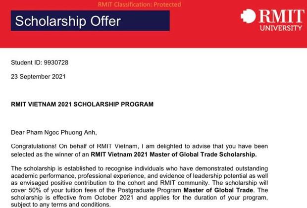 Á hậu Phương Anh nhận học bổng Thạc sĩ RMIT nhưng vẫn phải bỏ ra chi phí khủng bằng mấy năm đi làm để lấy bằng, nghe mà choáng - Ảnh 2.