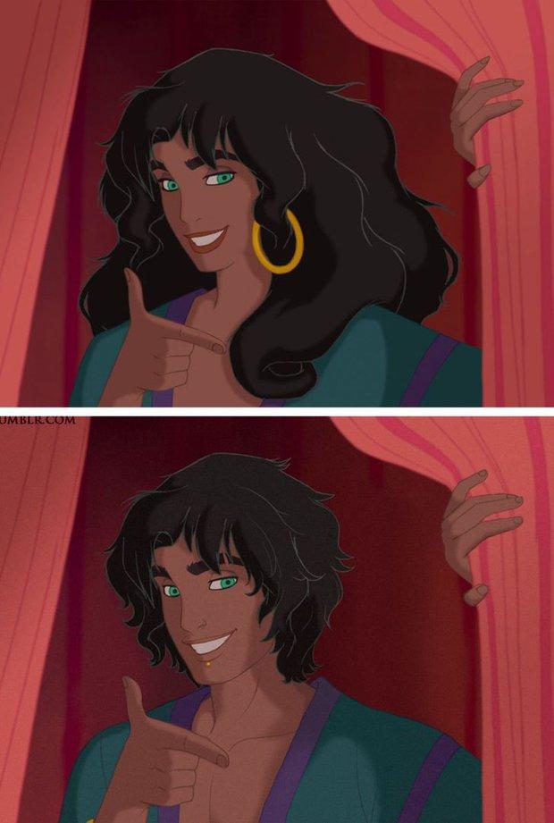 Cười xỉu khi các nhân vật Disney huyền thoại bị hoán đổi giới tính: Elsa đẹp trai hết hồn nhưng nhan sắc trùm cuối mới gây hoang mang! - Ảnh 7.