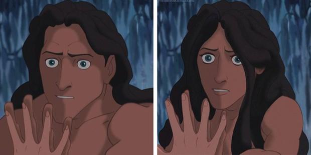 Cười xỉu khi các nhân vật Disney huyền thoại bị hoán đổi giới tính: Elsa đẹp trai hết hồn nhưng nhan sắc trùm cuối mới gây hoang mang! - Ảnh 8.