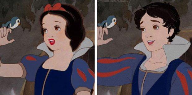 Cười xỉu khi các nhân vật Disney huyền thoại bị hoán đổi giới tính: Elsa đẹp trai hết hồn nhưng nhan sắc trùm cuối mới gây hoang mang! - Ảnh 12.