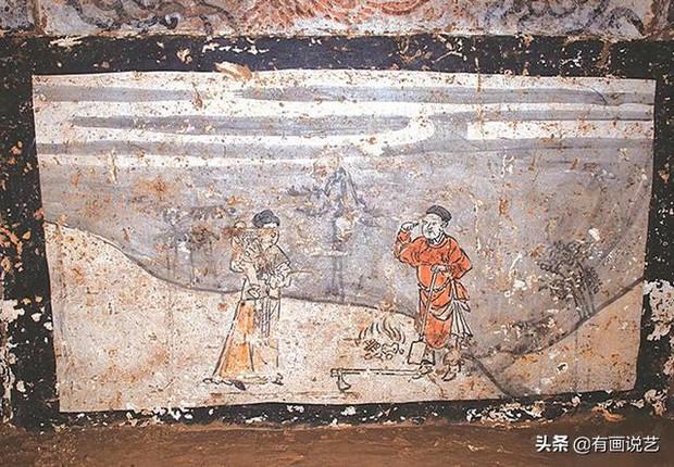 Phát hiện 7 bức bích họa trên tường ngôi mộ cổ, 1 bức trong đó khiến chuyên gia rùng mình: Chuyện như vậy cũng dám làm sao? - Ảnh 3.
