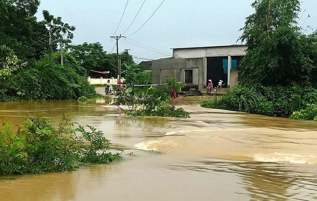 Thủy điện và hồ đập xả lũ, nhiều tuyến quốc lộ và nhà dân ở Nghệ An ngập sâu trong nước  - Ảnh 5.
