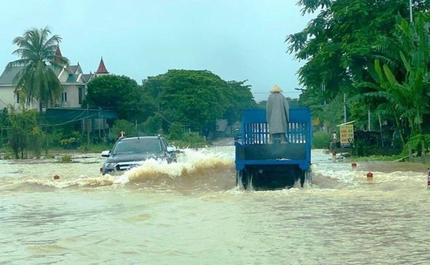 Thủy điện và hồ đập xả lũ, nhiều tuyến quốc lộ và nhà dân ở Nghệ An ngập sâu trong nước  - Ảnh 10.