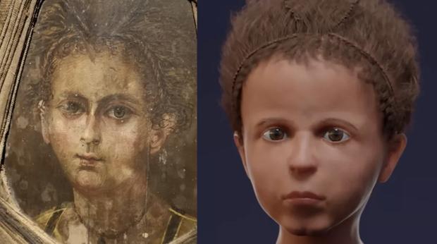 Phục dựng dung mạo em bé Ai Cập chết nghìn năm trước, kết quả giống chân dung gắn trên xác ướp đến kinh ngạc ngoại trừ 1 điểm - Ảnh 4.