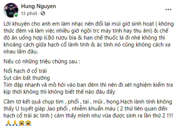 HLV Rap Việt bất ngờ vào viện, hết lòng khuyên đồng nghiệp đổi thói quen sinh hoạt xấu, bệnh tình hiện tại ra sao? - Ảnh 1.