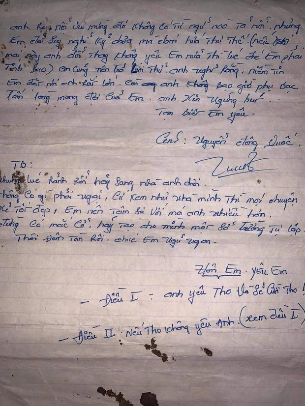 Con gái khoe ảnh bố 20 năm trước, điển trai lãng tử cùng lá thư tay tán gái khiến thanh niên ngày nay phải nể - Ảnh 2.
