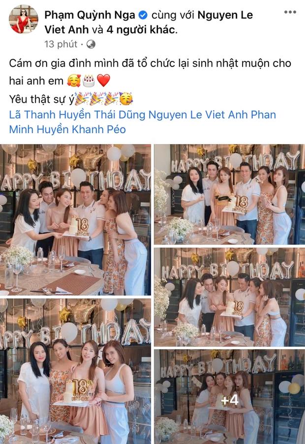 Quỳnh Nga vai kề vai cùng Việt Anh trong tiệc sinh nhật đôi, netizen soi có gì đó sai sai trong khung hình? - Ảnh 2.